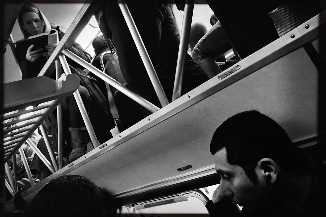 Standing room only. My Commute Transportation Vehicle Interior Mode Of Transport Land Vehicle Real People Lifestyles Adults Only Men Young Adult Public Transportation Adult People Indoors  Day Only Men One Person