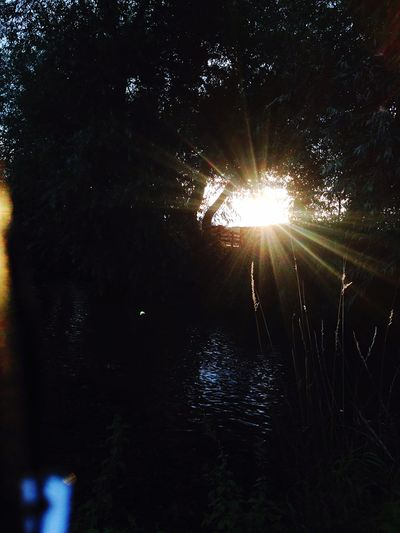 Creative Light And Shadow Sunset River Beautiful Nature