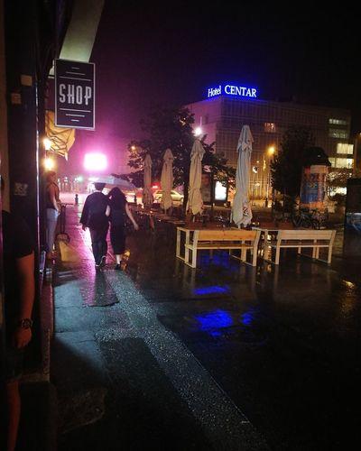 Night Illuminated City Nightlife Architecture Outdoors Romantic❤ Cityscape Novi Sad P9 Huawei Leicacamera BePresent P9photography Rainy Night Summer Rainstorm People Love This City ❤