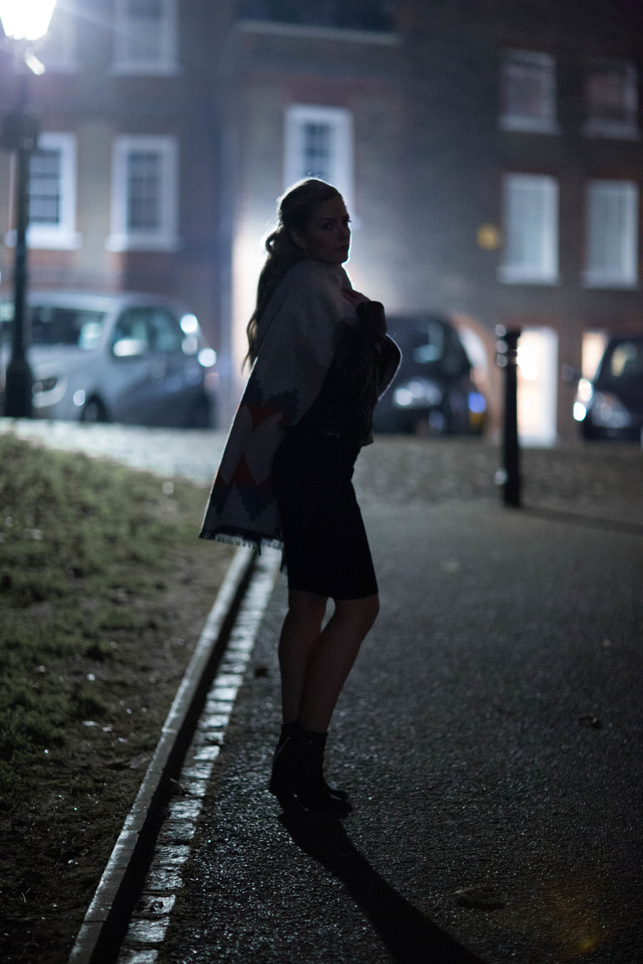 Portfolio One Person Walking Transportation Full Length People Adults Only Journey Outdoors Lifestyles Adult Only Women One Woman Only Silhouette City Building Exterior Real People Night Overcoat Young Adult noelia Nightphotography Street Light City Model Photography Modelshoot