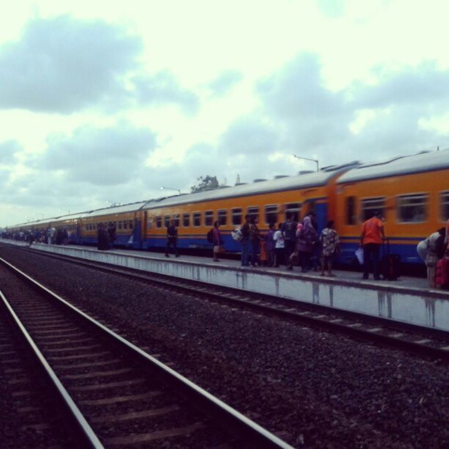 Progo, the Economy Class Train, from Yogyakarta to Jakarta Train Station Wates Jogja
