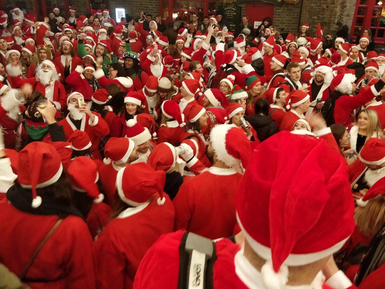 Swarm of Santas Santacon