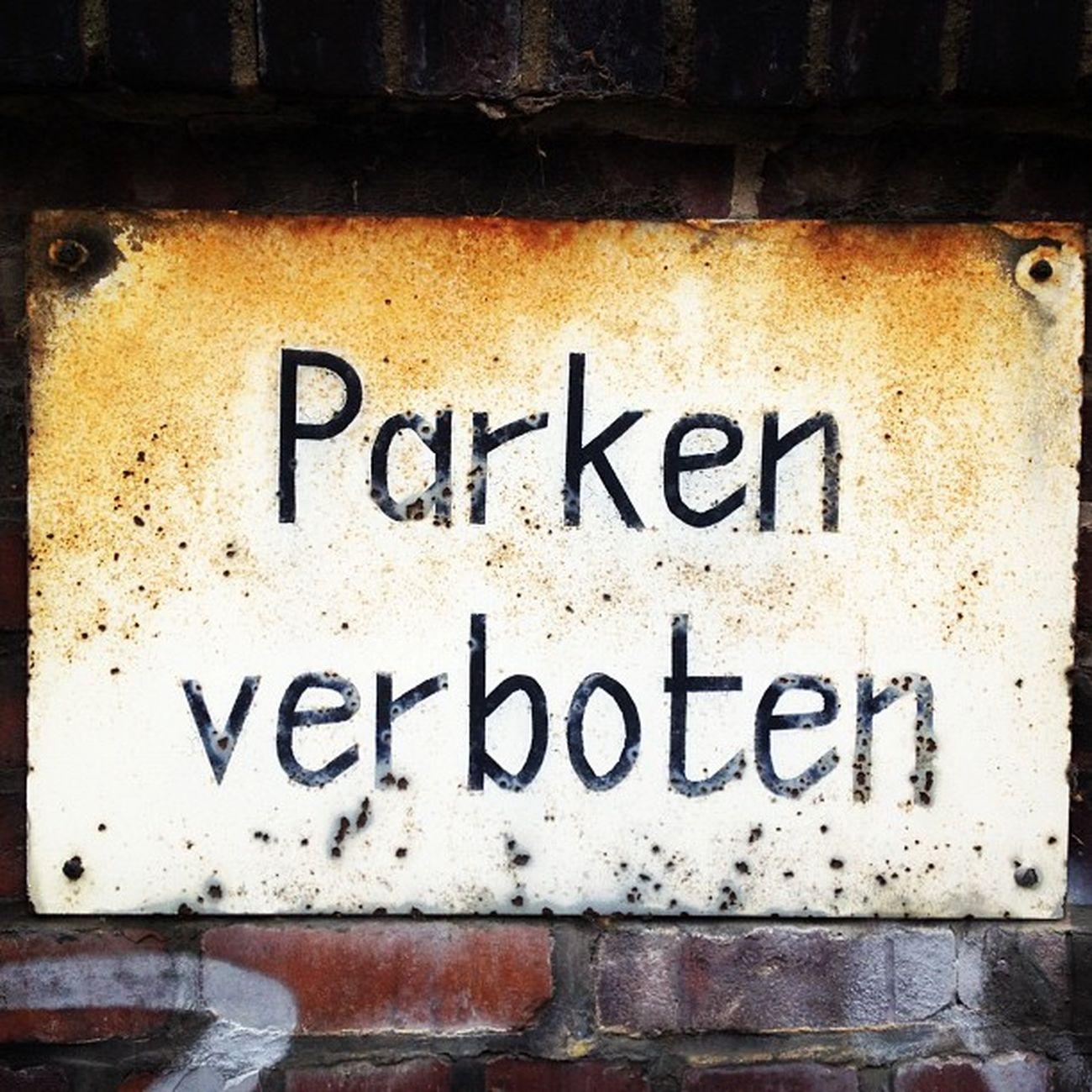 #Parken #Verboten Verboten Parken