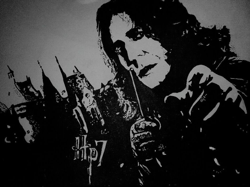 Only Men People ArtWork One Person Portrait Alan Rickman Severus Snape Harry Potter Magic Monochrome