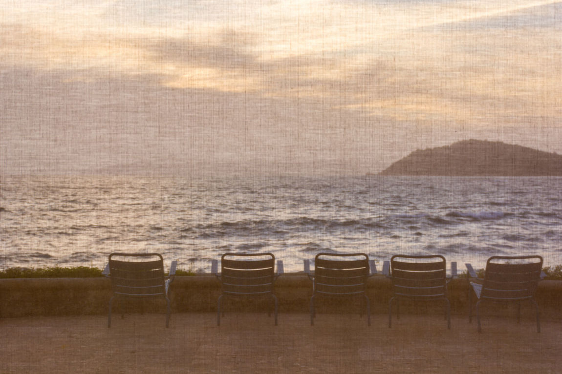 Behind the curtain. A land between sky and sea. Rayol-Canadel Absence Absence Of Content Beauty In Nature Behind The Curtain Calm Chair Cloud - Sky Empty France 🇫🇷 Horizon Over Water No People Outdoors Sea Shore Show Must Go On Sky Tourism Tranquil Scene Tranquility TakeoverContrast