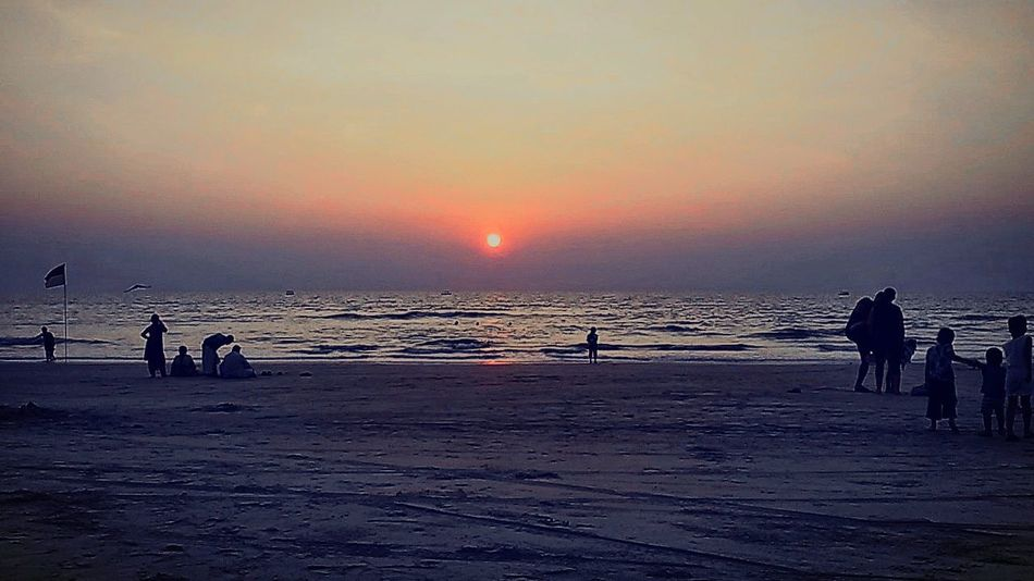 The sunset at Goa.. Sunset Goa Collection Relaxing Beach Photography Goa India Sky And Sea