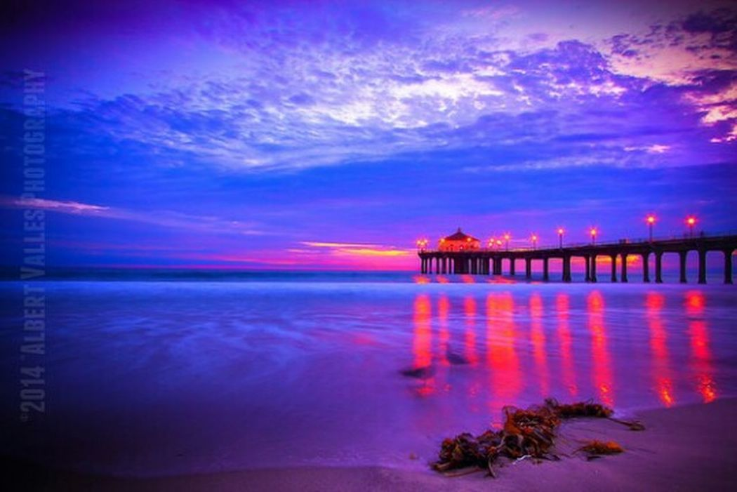 COLORFUL SUNSET! Enjoying The Sunset L.a.spot Coulds And Sky Dramatic Sky Check This Out California Water Beach Cali Life Manhattan Beach Manhattan Beach Pier Losangeles