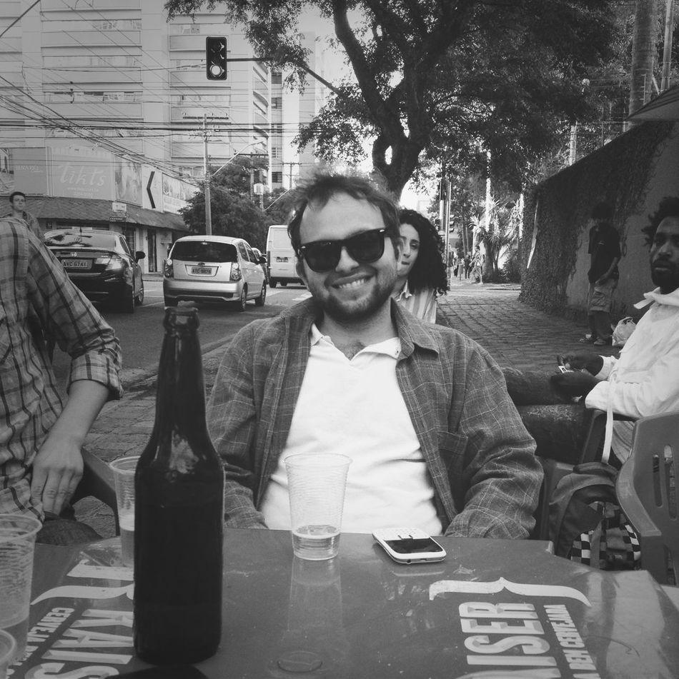 une bière avec une légende