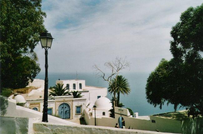Architecture Holiday Sea Sidi Bou Said Street Light Tunesia