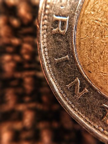 Metal Coin Close-up Savings Currency Single Object Finance Gold Colored Wealth No People Focus On Foreground Day