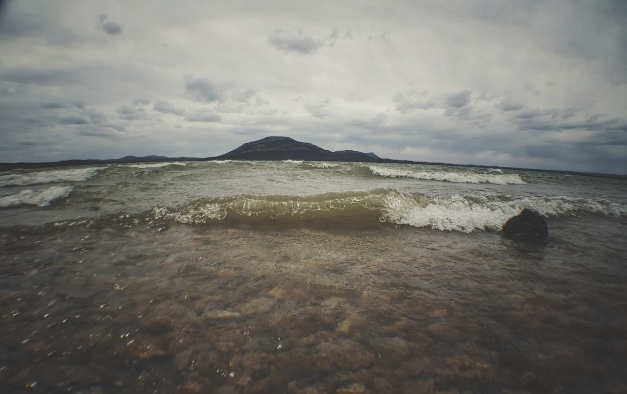 Landscape Cloud - Sky No People Nature Outdoors Day Oklahoma Lake Rocks Wave Water Nature Shore Sand Beach Close-up Mountain Miles Away EyeEmNewHere Low Angle View Storm Cloud