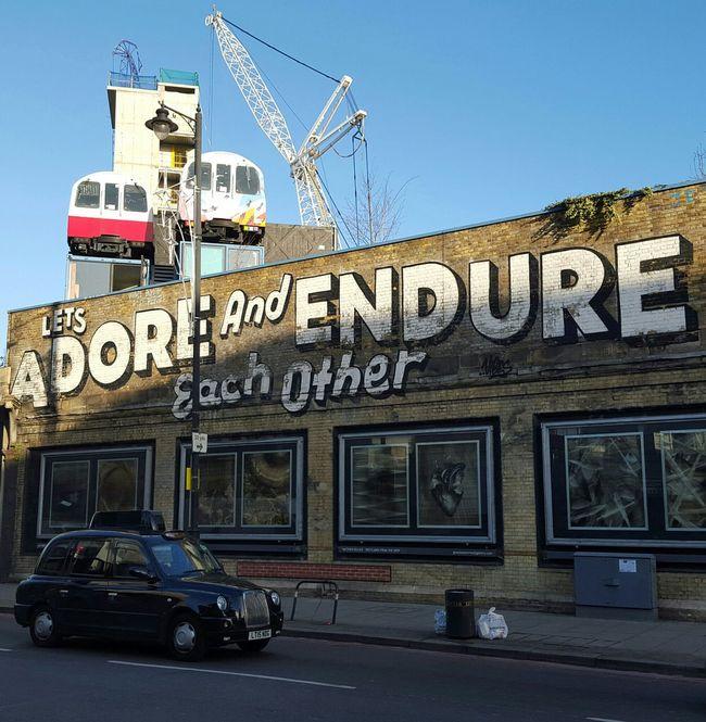 Pivotal Ideas Adore Endure Each Other Colour Of Life Graffiti Graffiti Art Love London Wall Trains Vagon Crane Tag Headline Status Cover Noedit Nofilter NoEditNoFilter TakeoverContrast London Lifestyle