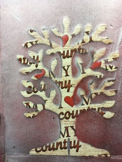 Tree i Love My Country Graffiti Text Western Script Communication No People Close-up Day Indoors