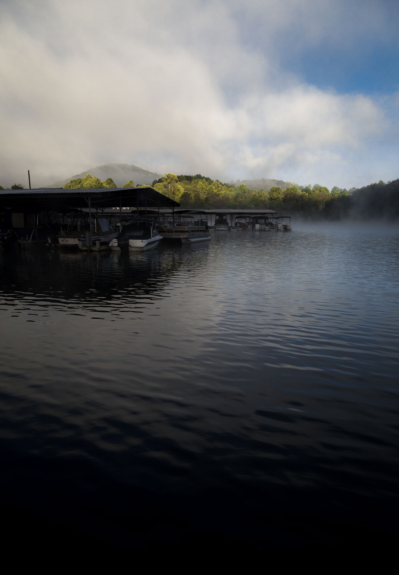 Architecture Beauty In Nature Cloud - Sky Day Dock Fog Lake Light And Shadow Morning Nature No People Outdoors Reflection Reflection Lake Sky Water