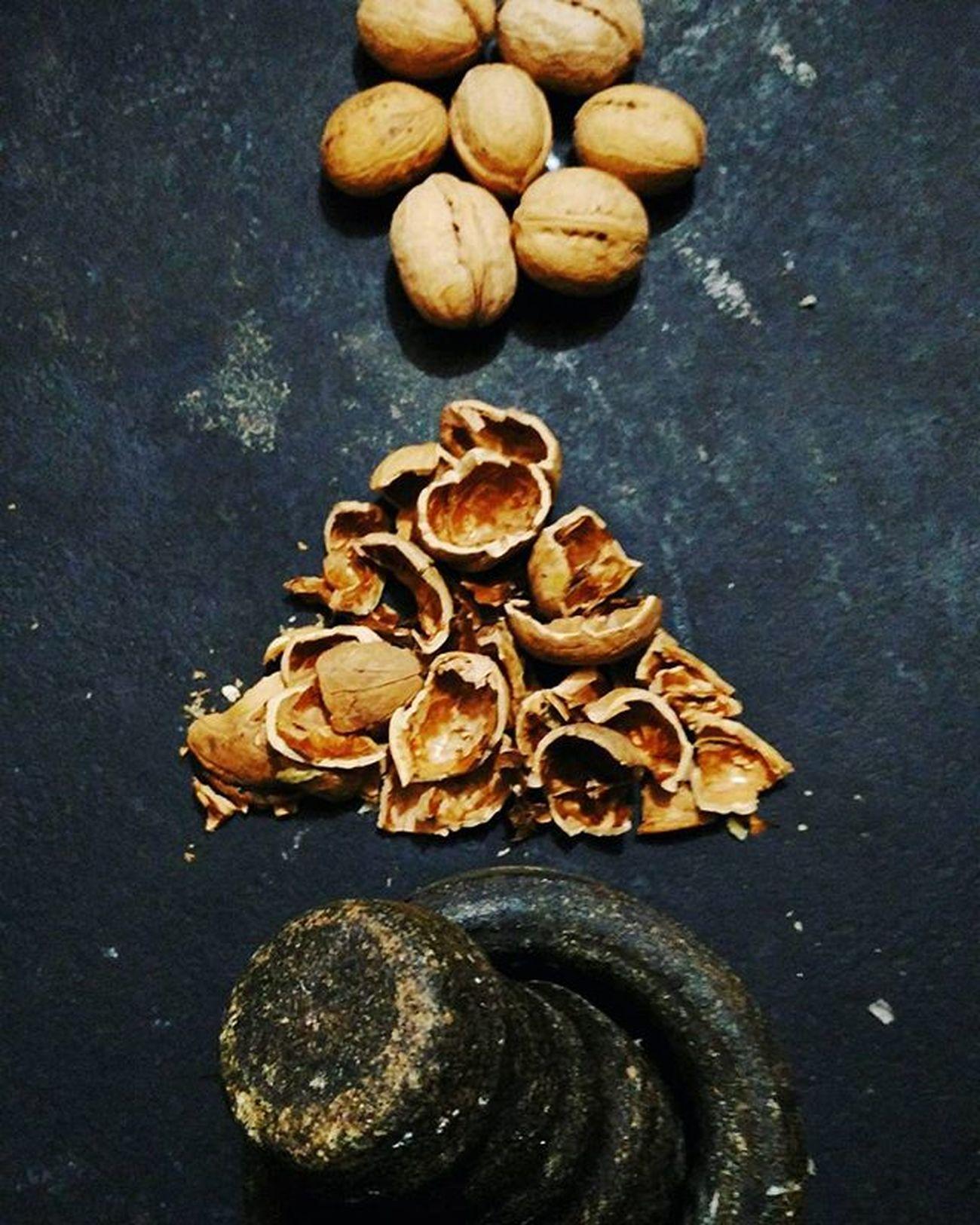 :: Stone Age :: Walnut Kashmir Stoneage Stone Nut Dryfruit Ammi Malayali Malayalam Mallugram Instagramers Black Oldschool Technique India SundayFunday Instapic Instagram Insta Sunday