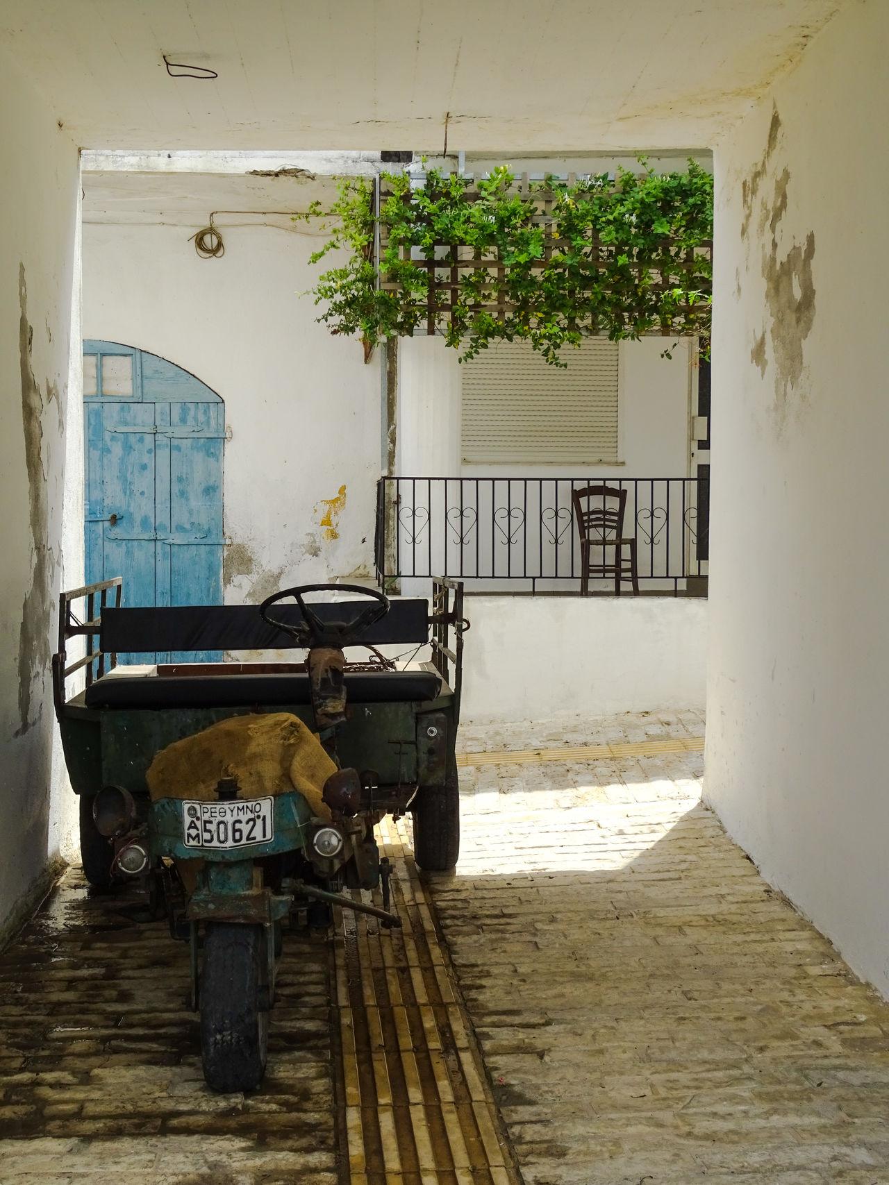 Alley Crete Greece Greek June 2016 Kreta Local No People Old Transport Transportation Travel