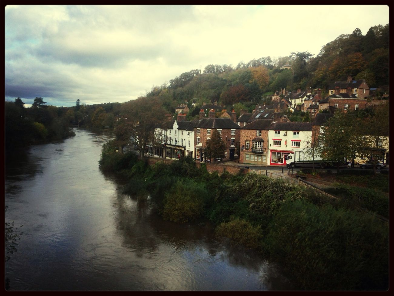 ironbridge. England River Countryside Shropshire