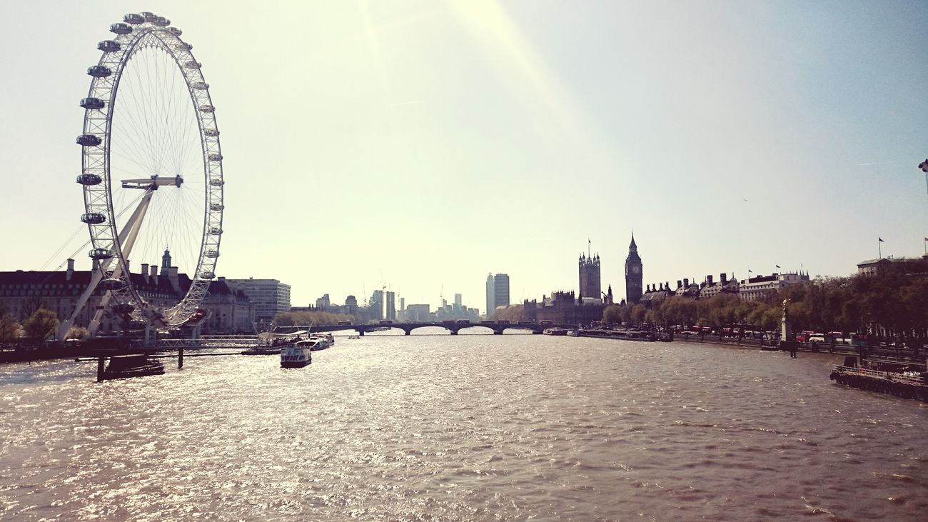 London, oh London 🎡 Citytrip London Big Ben London Eye Westminster Bridge Sky Outdoors Skyline Water Thamesriver Holidays Blue Family Sun Spring Beautiful Great Britain Travelling Travel Destinations Vacations Buildings Sightseeing