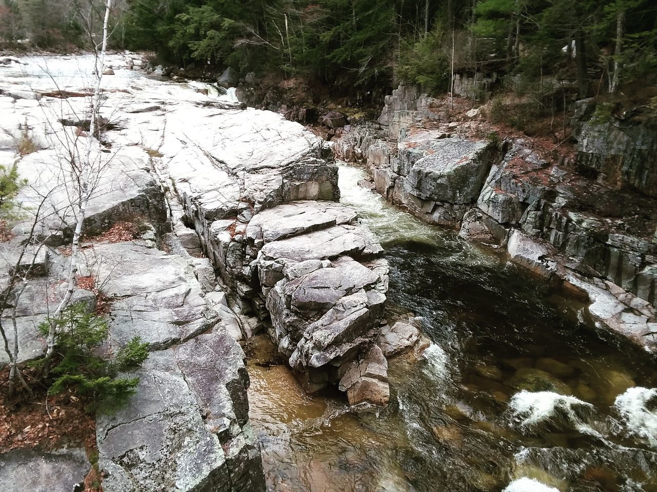 River Amidst Rock Formation