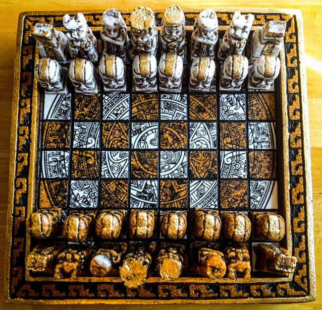 War among the Mayans Ancient Relic Chessboard Battlefield Mayan Chess Ancient Games Chess Board Sun God  Chesspieces Handmade Mayan Art Chess Game Golden Checkered Mayan Culture Chess Set Chess Pieces Chessgame Checkered Pattern Strategy Strategy Game Face Off Showdown  Fujifilm Finepix Xp60