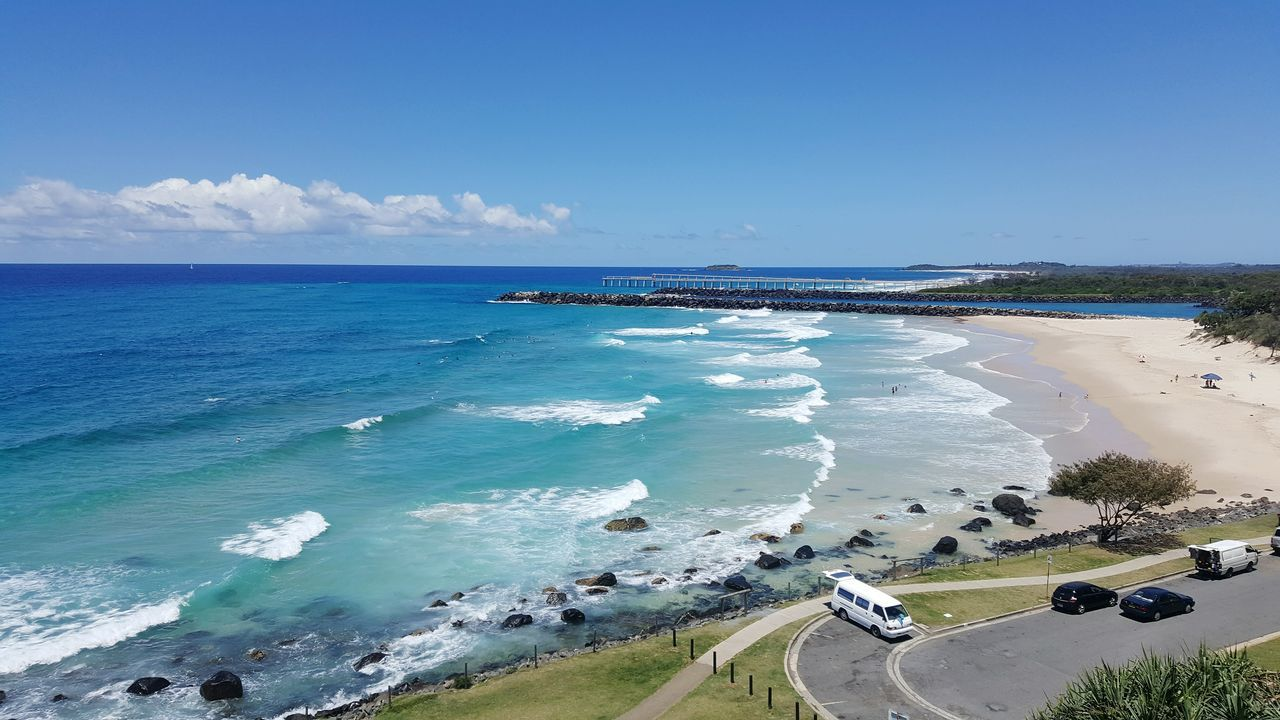 Sea Beach Horizon Over Water Blue Sand Sky Outdoors Wave Water Day Travel Destinations Cloud - Sky Landscape Vacations Coastal Feature Clear Sky Nature Tourism Nature Tropical Climate Tranquility Surfing Australia