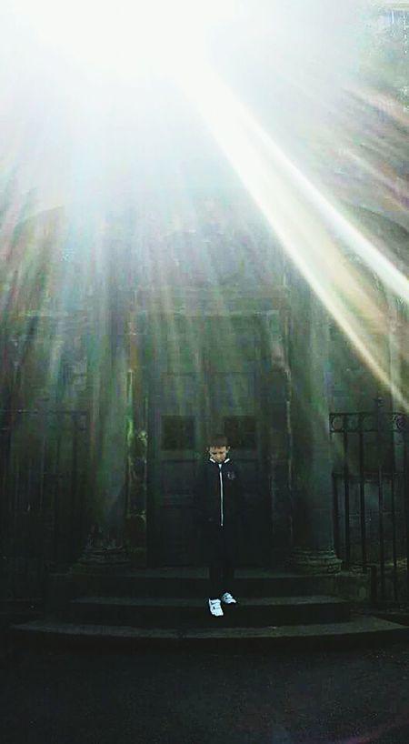 Greyfriars Graveyard Edinburgh Sunbeams My Son <3 Steps Old Buildings Sunshine Sunlight