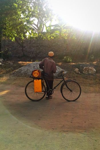 Kenya Bicycle One Person One Man Only Life Real Life Tranquility