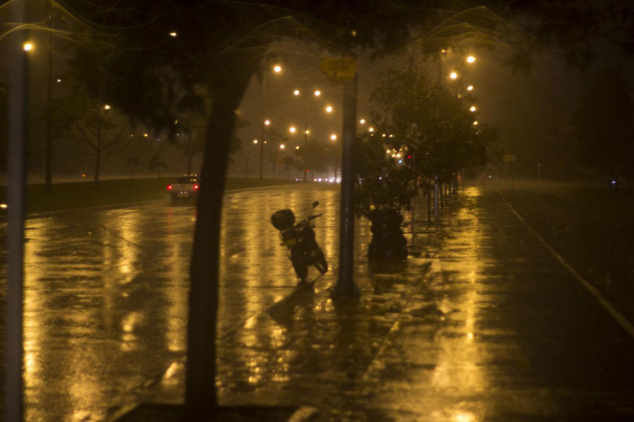 illuminated, night, street, real people, walking, street light, outdoors, men, lifestyles, tree, city, sky, people