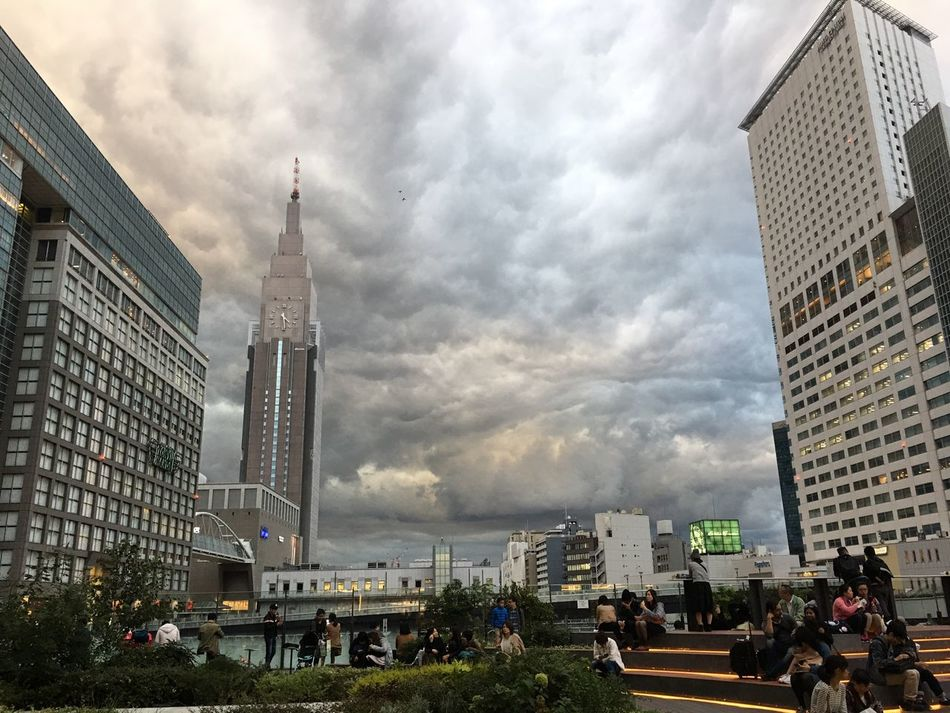 Shinjuku Tokyo NEWoMan City Cityscape People Urban Skyline Tower Cloud Sky And Clouds