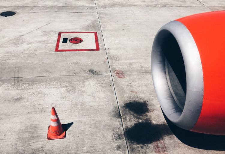 Airport Airportphotography Airplane Aeroplane Airports Airport Waiting Airportlife Boarding Flight Red Reds Minimalism Minimal Cone From My Point Of View Check This Out Hello World Photography Enjoying Life Look Down Colour Palette Colour Of Life