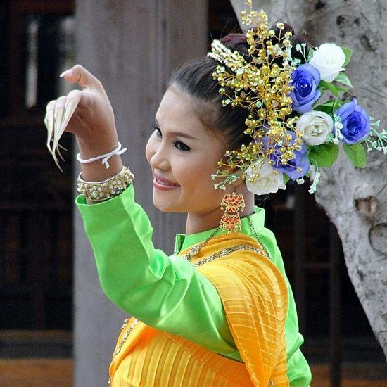 Dancing Lady Thaigirl Thai Culture