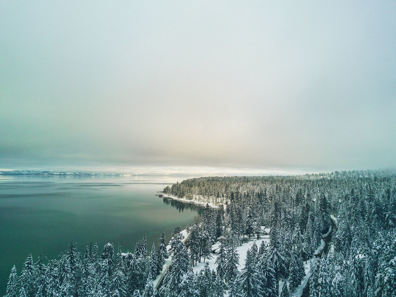 Nature Beauty In Nature Tranquility Scenics Tranquil Scene Water Cold Temperature Winter Sea No People Snow Sky Outdoors Landscape Horizon Over Water Day The Great Outdoors - 2017 EyeEm Awards