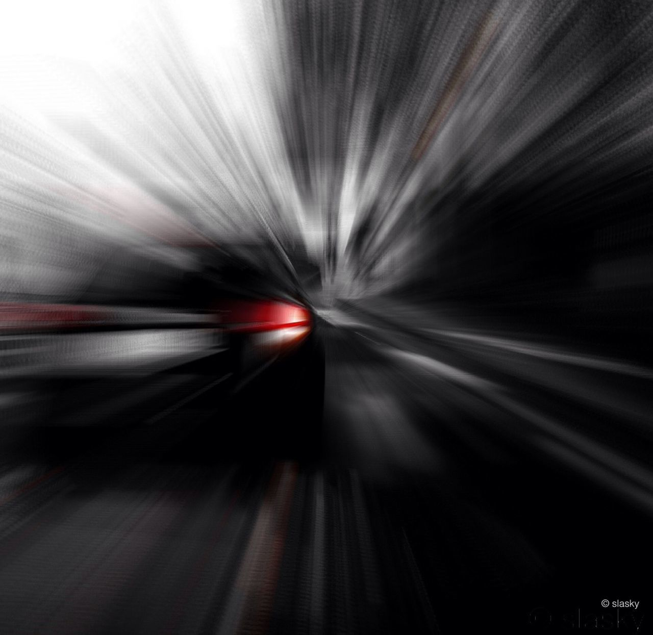 transportation, blurred motion, motion, speed, long exposure, mode of transport, indoors, on the move, road, travel, illuminated, the way forward, diminishing perspective, tunnel, no people, car, land vehicle, backgrounds, full frame, red