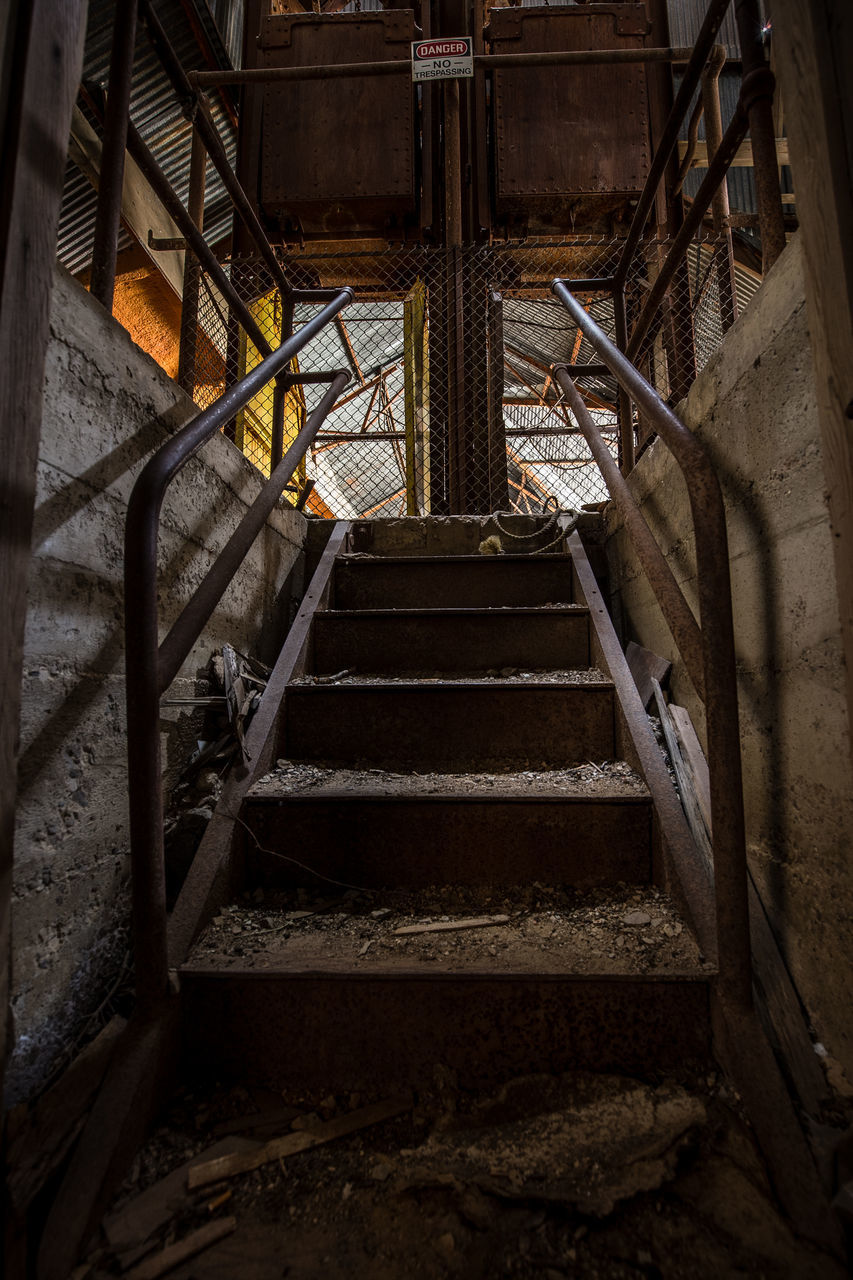 View Of Steps In Abandoned Factory