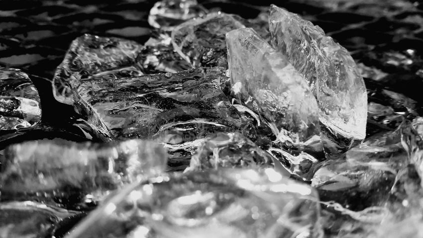 Melting ice with light.Monochrome Photography Frozen Ice Cold Temperature Close-up Season  Winter Purity Crystal Weather Nature Purple Focus On Foreground Freshness Tranquility Fragility Scenics Refreshment No People Blackandwhite Monochrome