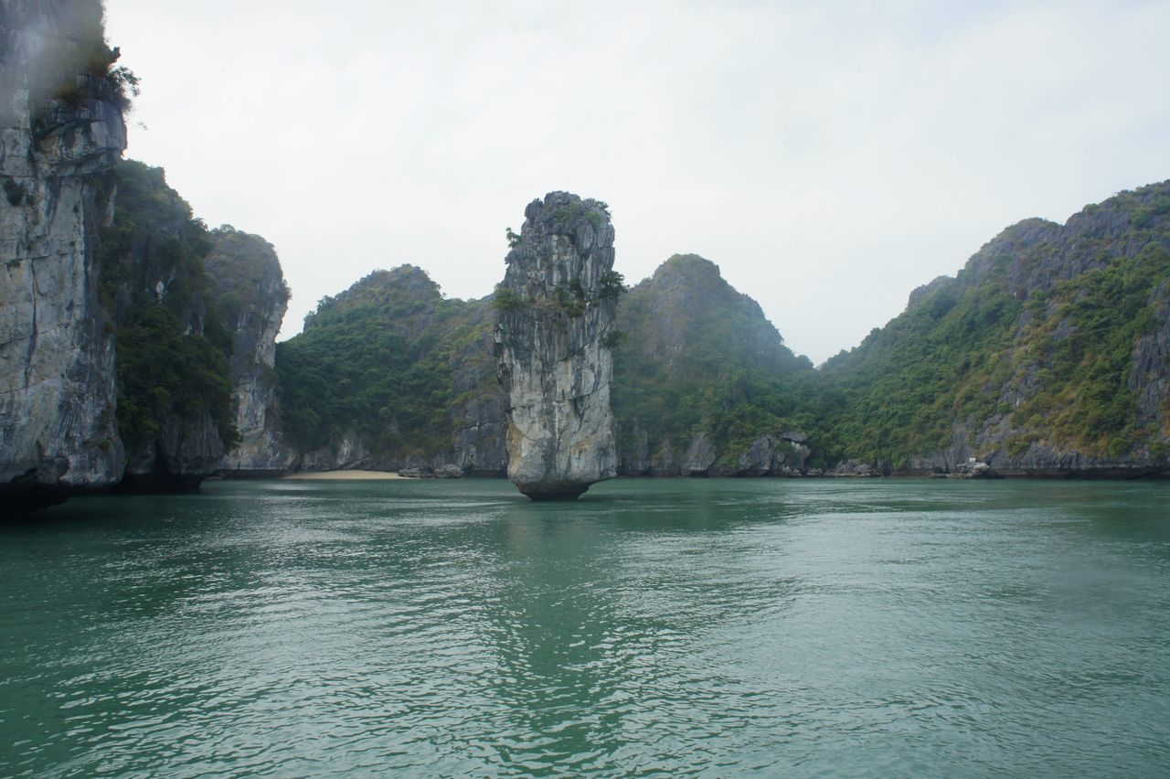 Day Halong Halong Bay Vietnam Halongbay Kayaking Landscape Nature No People Outdoors Rock - Object Scenics Sea Sky Travel Travel Destinations Vacations Water