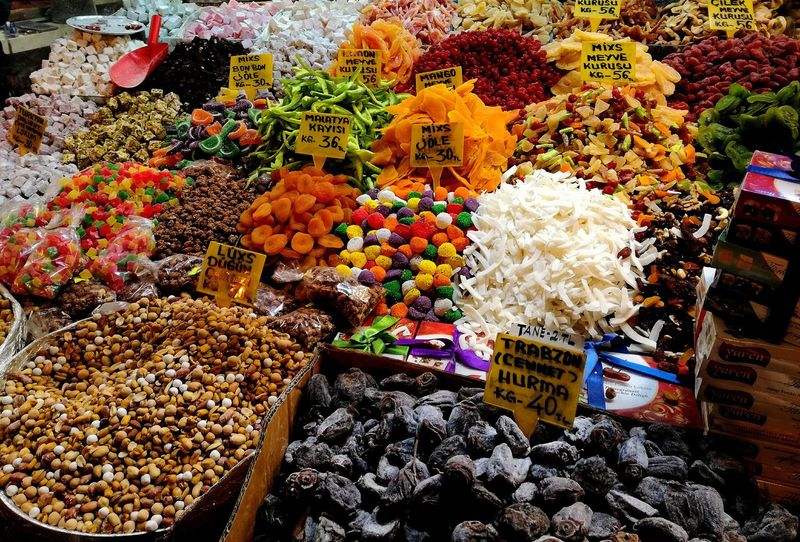 Multicolor food Food Colors Colorfood Istanbul Grandbazaar  Fruits Dried Fruit