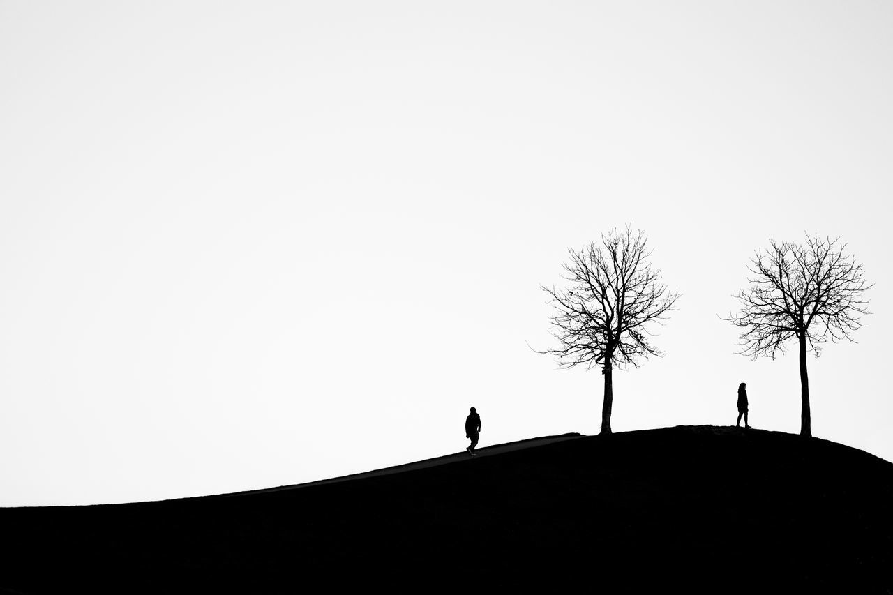 A few steps away from happynessBlack And White Contrast Happyness Hill Landscape Love Mountain Outdoors Silhouette Silhouette Tree True Love Couple Black Best  tranquil scene Idyllic Landscapes Hopes And Dreams Hope Life Is Beautiful Life Dream Dreaming EyeEm Best Shots