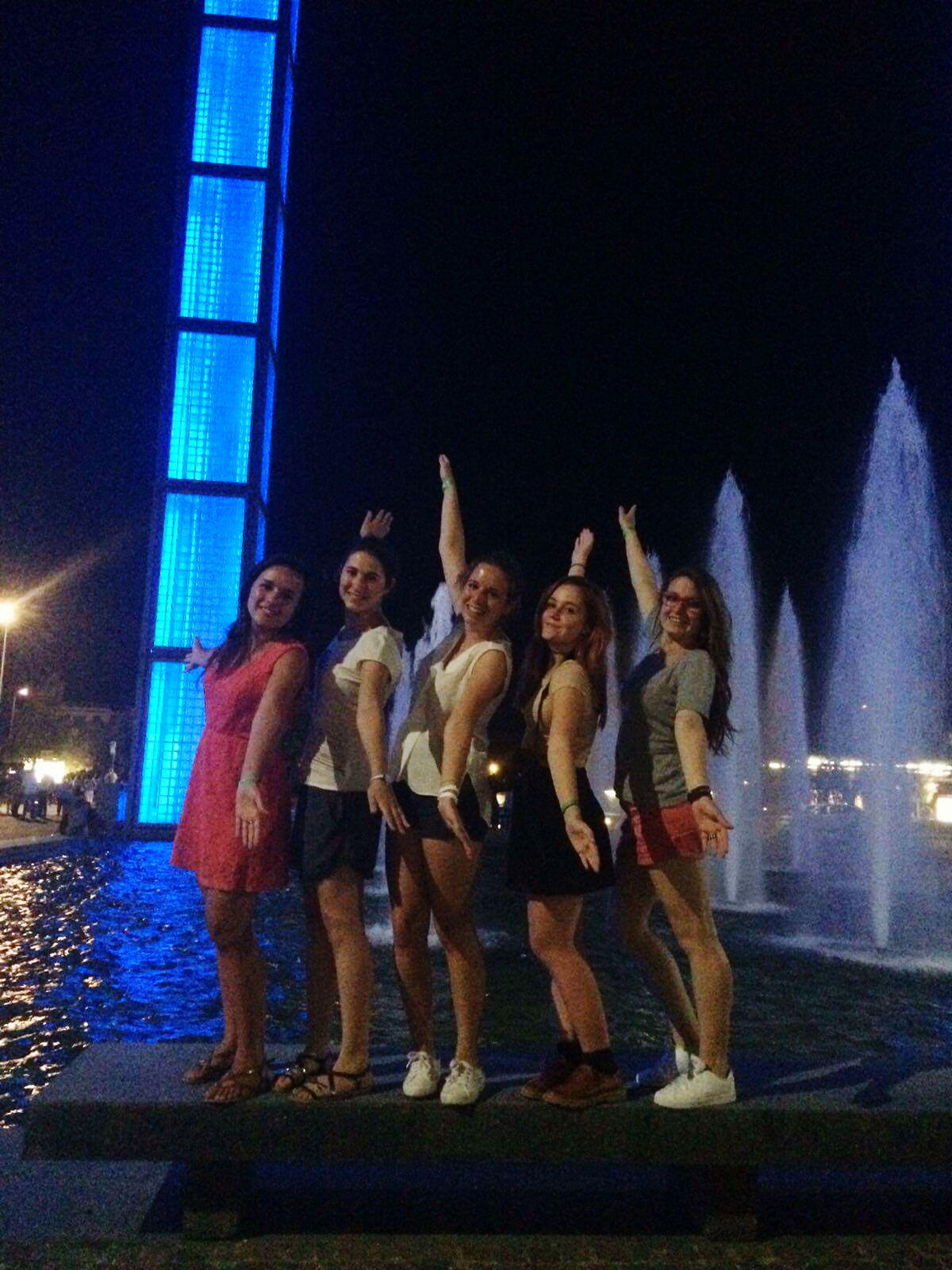 night, illuminated, togetherness, celebration, dancing, full length, outdoors, performance