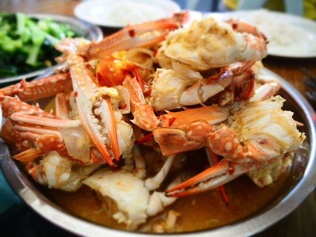 Crabs Yummy Seafoods Home Cooked Delicious