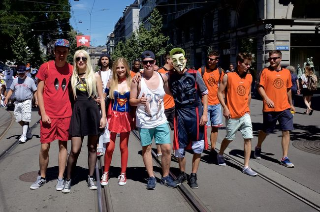 had a break to photograph the people going to the street parade 2016 in Zürich Disguised Enjoying Life Enjoying The Sun Fun Funtimes Hello World Rave Raveparty Ricohgr2 Streetparade Zurich Streetparade2016 Sun-fun Switzerland_2016 Zürich From My Point Of View Leisure Activity Festival Fever Festival Season