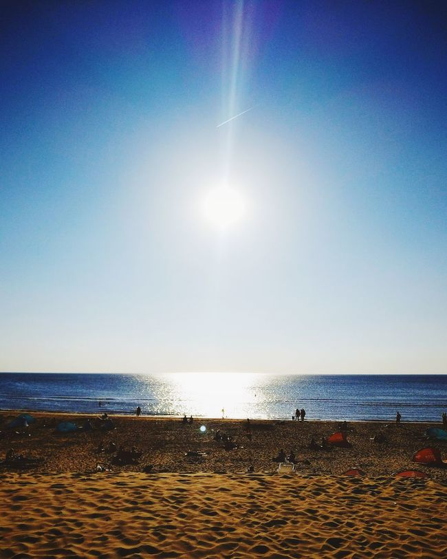 Lifes free pleasures Leisure Beach Sea Sky Horizon Over Water Water Outdoors Clear Sky Day Peace Tranquility Netherlands NL Bloemendaal Lifestyle Tanning Weekend Holiday