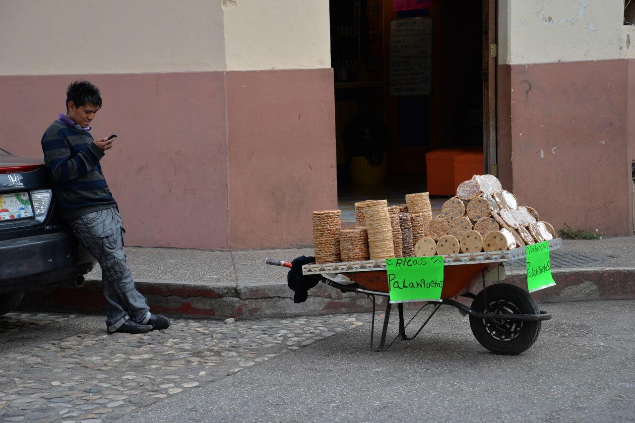 Cookie Seller Day One Man Only One Person Outdoors San Cristóbal De Las Casas, Chiapas. Street