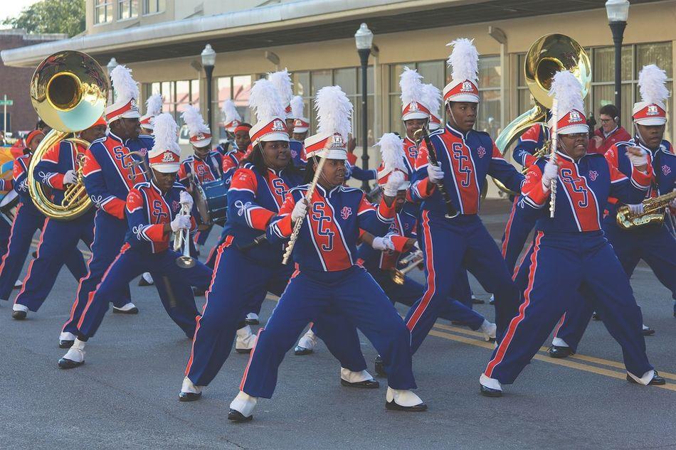 MLK Day Parade 2016. Sol C. Johnson High marxhing band. Band Marchingband Music Dancing Parade Mlk Parade MLK Day Crew Takingphotos Havingfun