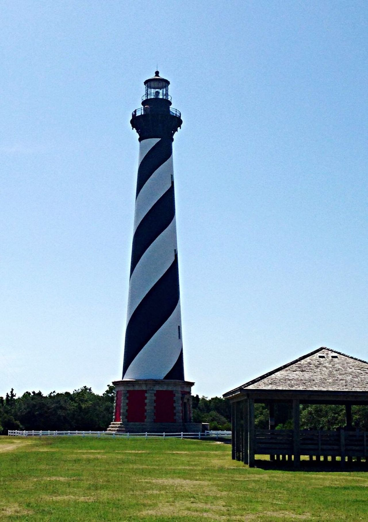 Cape Hatteras Lighthouse looking from direction of where it used to be located. OBX14 Lighthouse Traveling