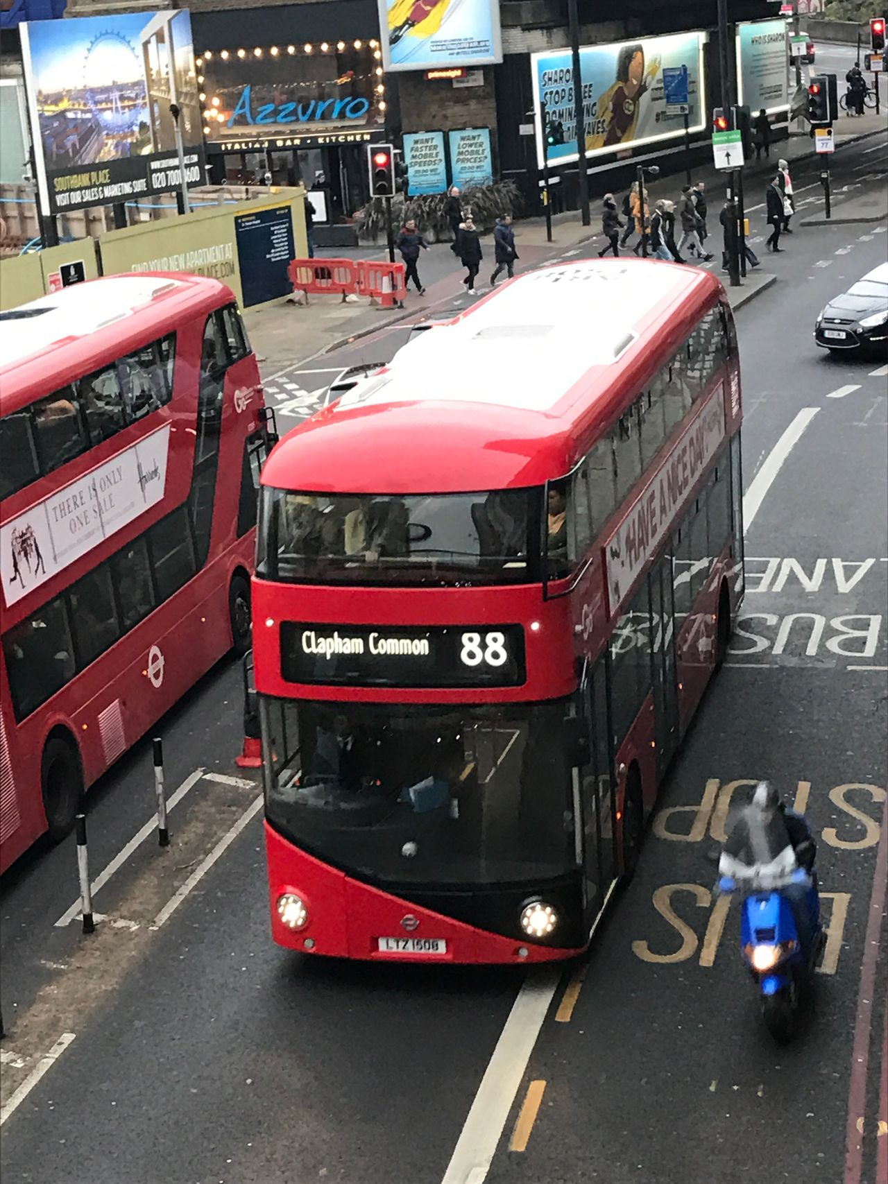 Buzzy Busy London Transportation City Travel Mode Of Transport Land Vehicle Public Transportation London Photography EyeEm Best Shots Art By Laziz British Style  Outdoors London Busses Double Decker London Bus Red Bus Biker