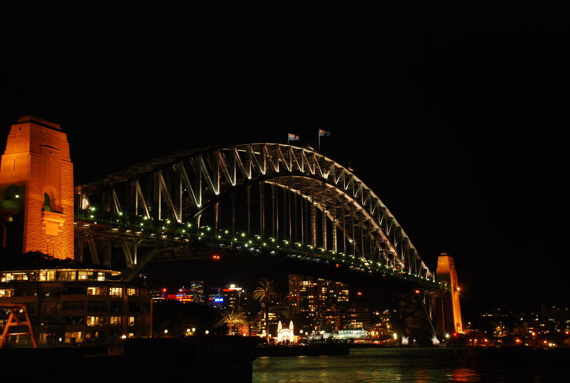 The Coat Hanger Sydney, Australia 2012 Architecture Building Exterior Built Structure Business Finance And Industry City Cityscape Harbor Harbor Bridge Icon Illuminated Midnight Night No People Outdoors Sky The Coat Hanger Urban Skyline