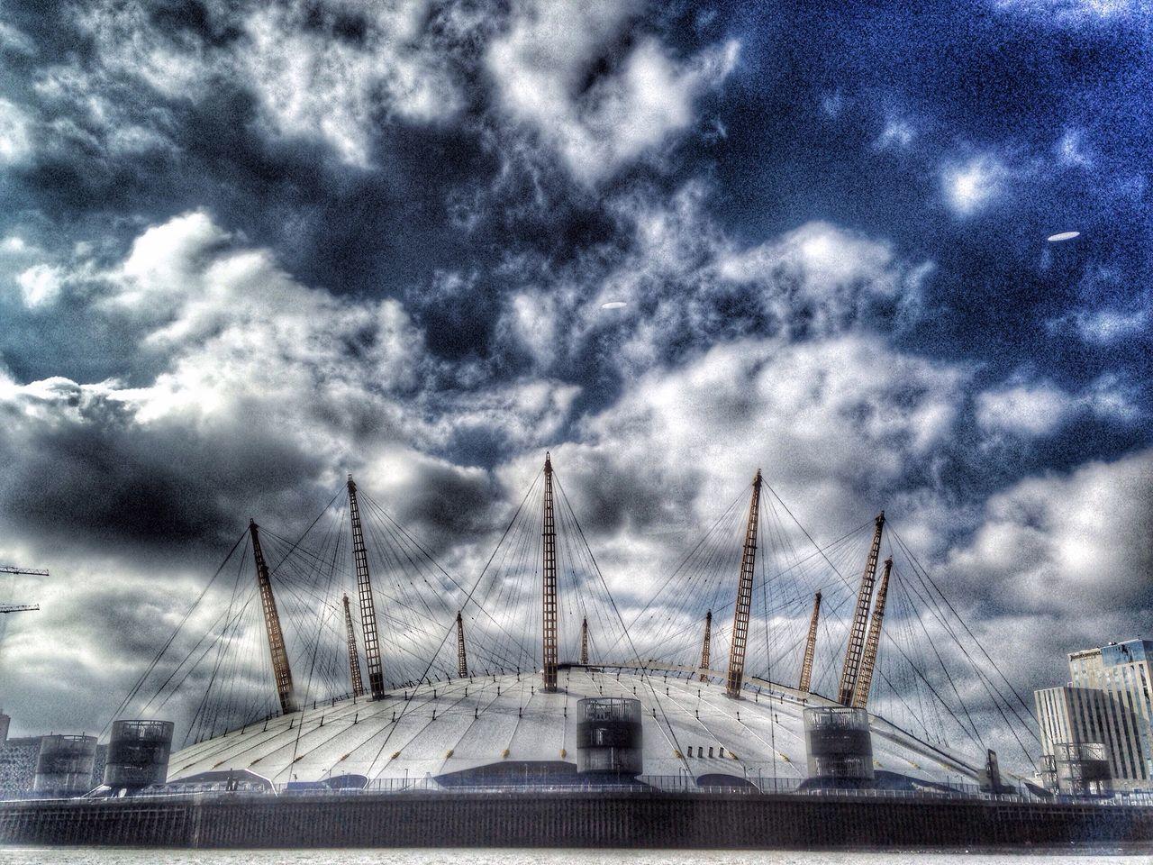O2 Arena Thames Clipper Thames River London Sky Dramatic Sky