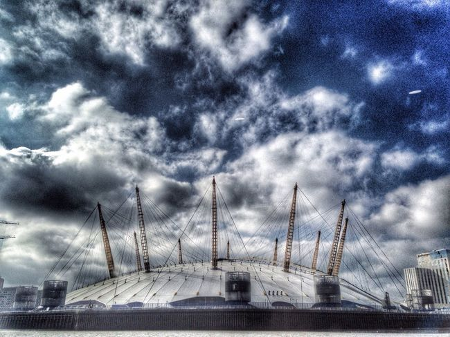 O2 Arena Thames Clipper Thames River London Sky Dramatic Sky
