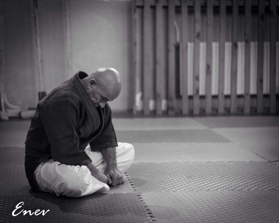 Aïkido Sensei Hope.✌ Black And White The Master Detail Silence